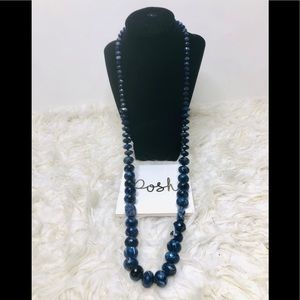 Royal Blue Heavy Pearl Necklace